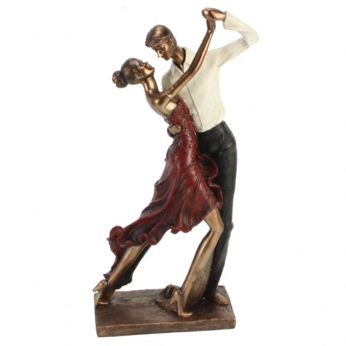 Large Bronze 'Couple Dancing' Figurine - Special 25th, 40th, 50th Anniversary Gift Ideas
